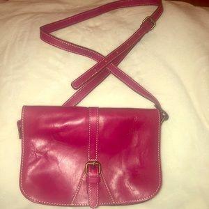 EUC genuine leather Patricia Nash saddlebag